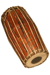 The Mridangam is a two headed drum from Southern India.